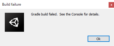 grdle build failed4