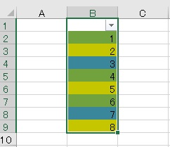 excel 色 カウント5